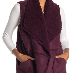 Size XL | Caslon Faux Shearling Vest Reversable